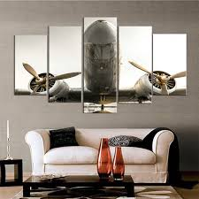 airplane home decor modular home decor wall art canvas hd printed pictures living room