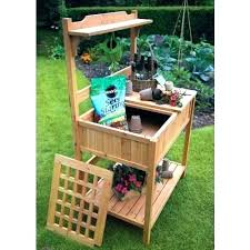 potting table with sink garden potting benches image of ideas potting table forest garden