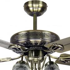 Ceiling Fans With 5 Lights Blade And 5 Lights Antique Style Ceiling Fans With Regard To