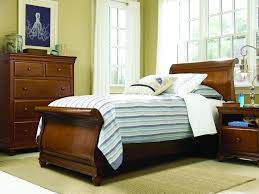 bedroom twin sleigh bed slate wall mirrors lamp sets the