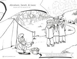 abraham sarah coloring free download