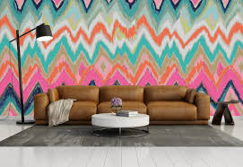 Abstract Wall Mural Bring The Essence Of Summer Indoors Wall Murals In Pastel Colors
