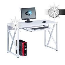 tablette coulissante bureau informatique avec tablette coulissante blanc brillant concernant