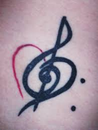 bass treble clef with a heart tattoos tattoomagz
