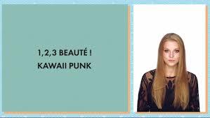tuto beauté coiffure kawaii punk youtube