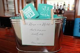 personalized koozies for wedding wedding favors ideas simple koozie wedding favors