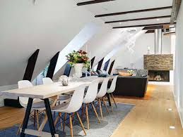 dinning room modern long narrow dining table house exteriors