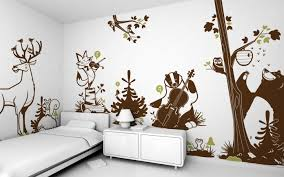 Forest Animals Kids Wall Decals Forest Theme Nursery Or Kids Room - Animal wall stickers for kids rooms