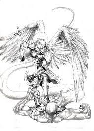 michael archangel tattoo design by razwit