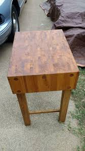 vintage kimball butcher block kitchen island for sale in athens