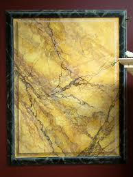 Marble Faux Painting Techniques - faux sienna marble trompe l u0027oeil paneling painted marbles and