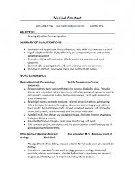 medical office assistant resume no experience resume examples no