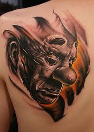 silent killer evil clown tattoo best tattoo ideas gallery