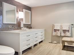 Bathroom Bench Ideas by Tips U0026 Ideas Revere Pewter Wood Cabinets With Wall Mirror And