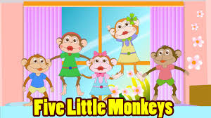 five little monkeys jumping on the bed with lyrics kids songs