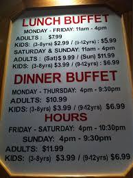 Chinese Buffet Hours by China Buffet Menu Menu For China Buffet Greensboro Piedmont