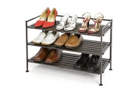 Shoe Rack by Seville Classics 3 Tier Resin Slat Utility Shoe Rack