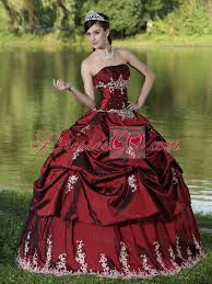 burgundy quince dresses made burgundy quinceanera dress party wear with satin embroidery