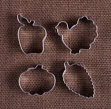 mini thanksgiving cookie cutter set fall fondant cutters the