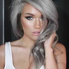 new hair colors for 2015 2015 trend gray hairstyle for spring summer celebrity fashion