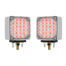 Led Pedestal Light 4 U201d Star Double Face Led Light Red Clear Amber Clear 12v