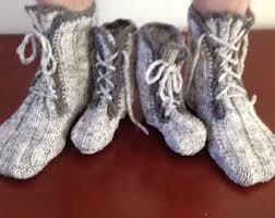 Kids Wool Socks Wool Slippers Etsy