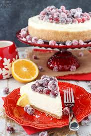Cranberry For Thanksgiving No Bake Sparkling Cranberry Orange Cheesecake Life Love And Sugar