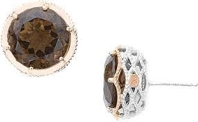 smoky quartz earrings tacori 18k925 smokey quartz earrings se120p17