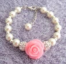 Children S Bracelets Flower Bracelet Flower Gift Pearl Childrens Bracelet