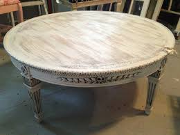 White Distressed Wood Coffee Table Round Coffee Table Shabby White Ivory Distressed Finish New