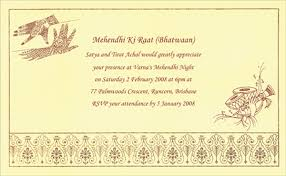 mehndi invitation wording mehandi printed sles