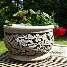 flower pot garden ornament cast planter patio home decor