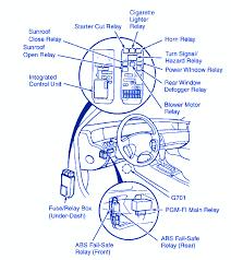 honda prelude 1996 dash fuse box block circuit breaker diagram