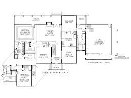 House Plan 1st Flr 01 Plans With Master Bedrooms Downstairs 2