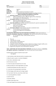 ideas of types of sentences according to structure worksheets with