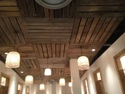 beautiful pallet ceiling ideas basements pallets and ceilings