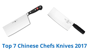 recommended kitchen knives 7 best chinese chefs knives 2017 youtube