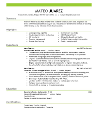 Online Resume Maker For Highschool Students by Teacher Resume Examples Substitute Teacher Resume Summary