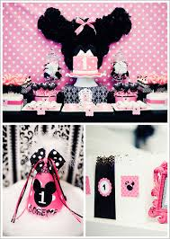 first birthday party minnie mouse ideas image inspiration of