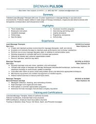 leading professional lead massage therapist cover letter