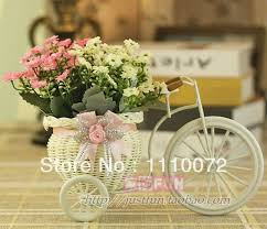 Artificial Flowers In Vase Wholesale Free Shipping Rustic Artificial Flower Basket Small Bike Home