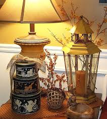 Home Decor For Fall - end table decorating for fall kathie u0027s lanterns at fall
