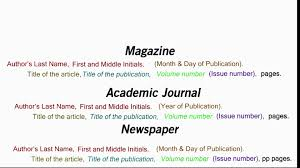 how to write a resume reference page how to cite an article in apa style youtube