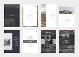 menu design resources minimal mobile menu ui set free psd download download psd