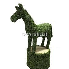 Horse Topiary Customized Big Artificial Topiary Boxwood Rabbit Dongyi
