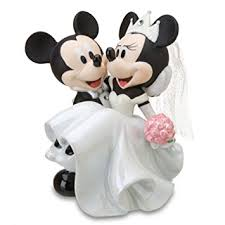 amazon disney parks minnie mickey mouse bride groom porcelain