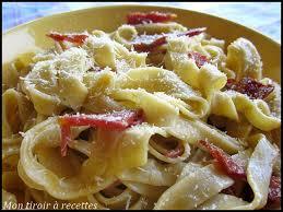 cuisine pates mon tiroir à recettes de cuisine pâtes à la carbonara italiennes