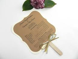wedding program fans diy ornate square rustic wedding program fan style with gold and
