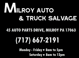 black friday auto parts milroy auto and truck salvage 45 auto parts drive milroy pa