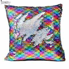 mermaid decorations for home decorative cushion covers mermaid pillow case cover reversible